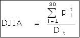 formula indice dow jones